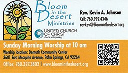 Bloom in the Desert Ministries